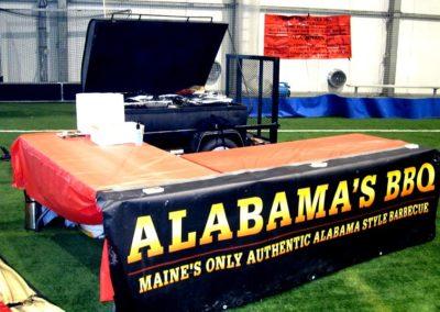 alabamas bbq maine catering setup